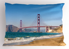 Kaliforniya Sahili Yastık Kılıfı Kumsal Mavi