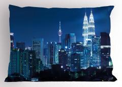 Kuala Lumpur Yastık Kılıfı Şehir Işıkları