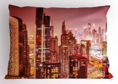 Dubai Gökdelenleri Yastık Kılıfı Modern Mimari Gökdelen