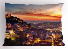 Gün Batımında Lizbon Yastık Kılıfı Deniz Manzaralı