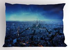 Gün Batımında Paris Silüeti Yastık Kılıfı Eyfel Kulesi