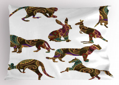 Süslemeli Hayvanlar Yastık Kılıfı Tavşan Kanguru At