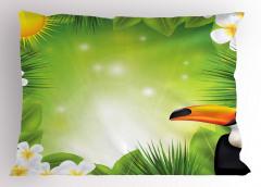 Tropikal Yaşam Yastık Kılıfı Güneş Çiçekler