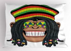 Hippi Maymun Desenli Yastık Kılıfı Jamaika Komik