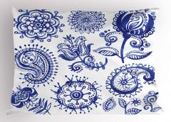 Mandala Çiçek Desenli Yastık Kılıfı Çiçek Desenleri Mandala
