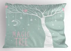 Sihirli Ağaç Desenli Yastık Kılıfı Sihirli Ağaç Ay Yıldızlar