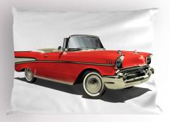 Kırmızı Şık Araba Yastık Kılıfı Nostaljik Dekoratif