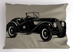 Klasik İtalyan Arabası Yastık Kılıfı Klasik İtalyan Arabası Baskılı