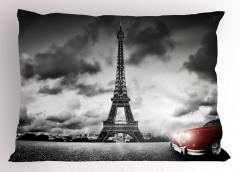 Romantik Paris Yastık Kılıfı Eyfel Kulesi