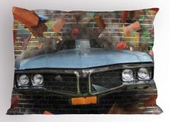 Sokak Sanatı Yastık Kılıfı Gerçekçi Grafiti