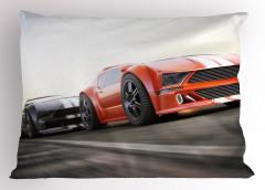 Yarış Arabası Desenli Yastık Kılıfı Motor Sporları