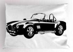 Klasik Araba Tutkusu Yastık Kılıfı Siyah Klasik Araba Temalı