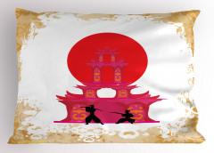 Samurayların Savaşı Yastık Kılıfı Dekoratif Japon