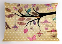 Çiçeklenmiş Dal Desenli Yastık Kılıfı Çiçeklenmiş Dal Modern Sanat