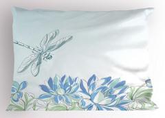 Yusufçuk ve Zambak Yastık Kılıfı Yusufçuk Çiçekler