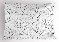 Ağaç Dalları Yastık Kılıfı Sonbahar Temalı Ağaç Dalları