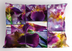 Çiçek Desenli Yastık Kılıfı Mor Şık Tasarım Çeyizlik