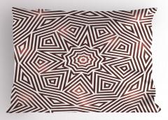 Kahverengi Geometrik Yastık Kılıfı Şık Tasarım