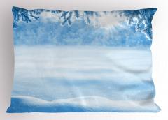 Kar Yağışında Güneş Yastık Kılıfı Kar Yağışında Güneş Manzaralı