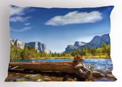 Huzurlu Doğa Yastık Kılıfı Nehir Orman Dağ