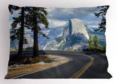 Dağa Yolculuk Yastık Kılıfı Dağ Yolu Macera