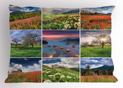 Doğa Manzarası Desenli Yastık Kılıfı Doğa Manzaraları