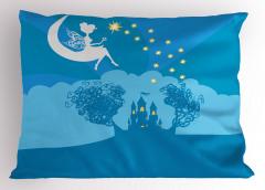 Şato Yastık Kılıfı Peri Masalı Temalı Mavi