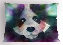 Panda ve Işık Hüzmesi Yastık Kılıfı Çocuk İçin