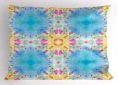 Mavi Mor Geometrik Yastık Kılıfı Şık Tasarım