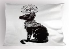 Kedi ve Ranın Gözü Yastık Kılıfı Antik Mısır