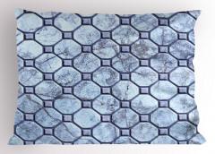 Mermer Desenli Yastık Kılıfı Gri Doğal Taş Şık Tasarım