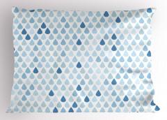 Yağmur Zamanı Yastık Kılıfı Yağmur Damlacıklı Şık Tasarım
