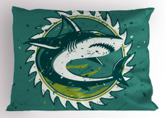 Köpek Balığı Yastık Kılıfı Köpek Balığı Şık Tasarım Beyaz