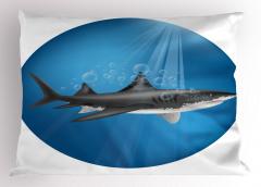 Su Altı Avcısı Yastık Kılıfı Sualtı Avcısı Mavi