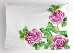 Pembe Güller Romantik Yastık Kılıfı Pembe Romantik Gül