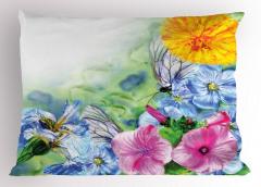 Doğada Bahar Coşkusu Yastık Kılıfı Bahar Çiçekleri