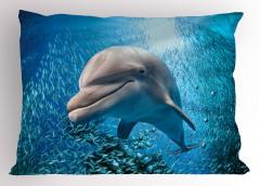 Balıklar ve Yunus Yastık Kılıfı Yunus ve Balıklar