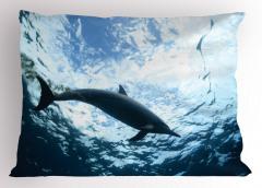 Deniz ve Yunus Yastık Kılıfı Yunus Mavi