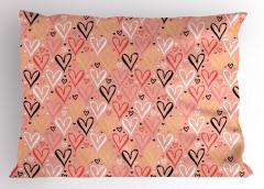 Rengarenk Kalpler Yastık Kılıfı Rengarenk Kalp Desenli