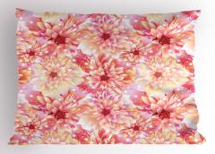 Pembe ve Sarı Çiçekler Yastık Kılıfı Pembe Çiçekli Şık Tasarım