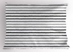 Gri Beyaz Çizgili Yastık Kılıfı Şık Tasarım Trend