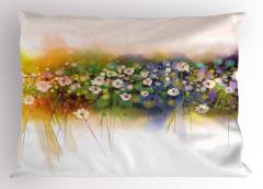 Dekoratif Çiçekler Yastık Kılıfı Çeyizlik Şık Tasarım