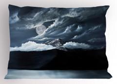 Karanlık Deniz Dolunay Yastık Kılıfı Siyah
