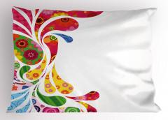 Damla ve Çiçek Desenli Yastık Kılıfı Şık Tasarım Trend