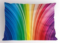 Rengarenk Çizgili Yastık Kılıfı Geometrik Desenli Şık