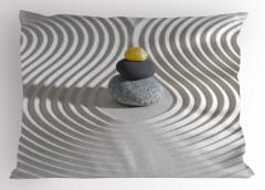 Kum Dalgaları ve Taş Yastık Kılıfı Zen Bahçesi