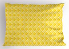 Sarı Duvar Kağıdı Yastık Kılıfı Limon Formlu
