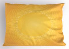 Sarı Beyaz Puantiye Yastık Kılıfı Güneş Etkili
