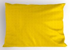 Çiçekli Duvar Kağıdı Yastık Kılıfı Sarı Fon