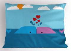 Mor Mavi Tatlı Balina Yastık Kılıfı Miniklere